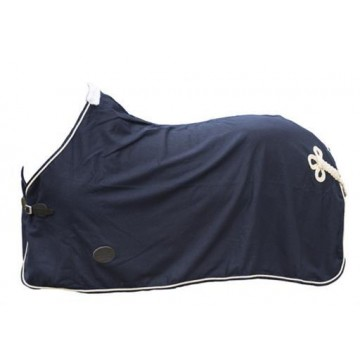 Horse Comfort WOOL BLANKET WITHOUT GIRTHS, NAVY/GOLD