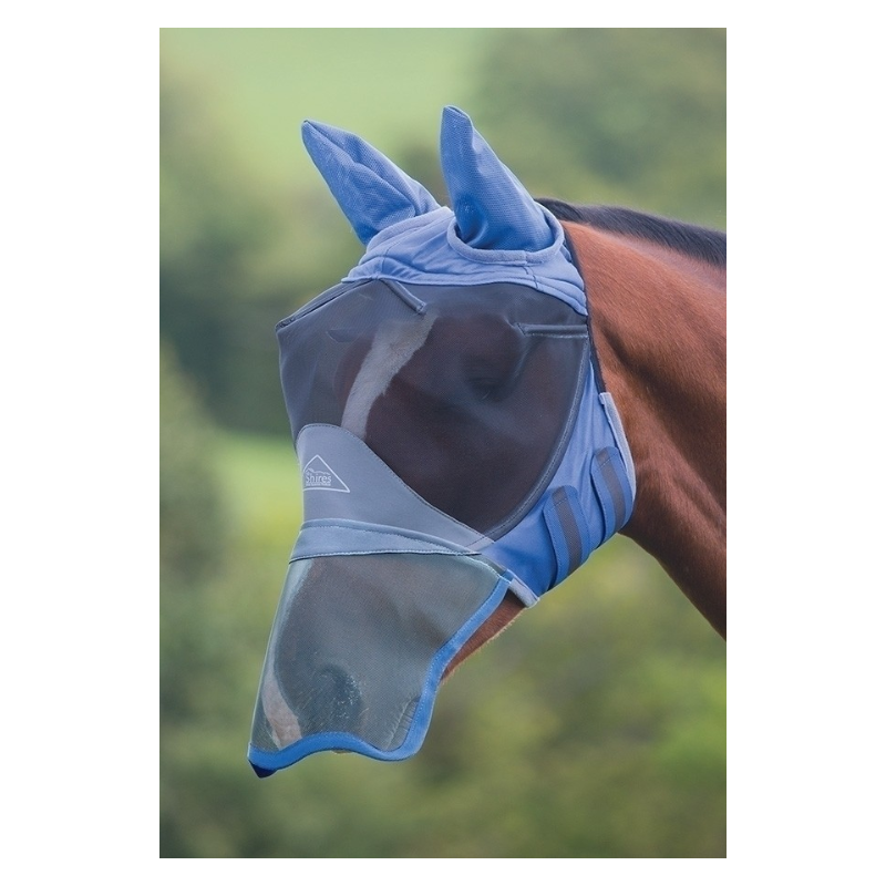 Shires Deluxe Fly Mask With Ears Nose