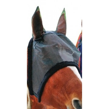 HKM Anti-fly mask with soft faux fur