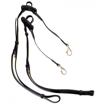 Globus Leather Side Reins with rubber rings