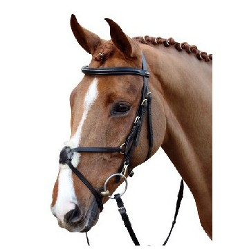 HKM Bridle -Mexican Style-with padded grackle noseband