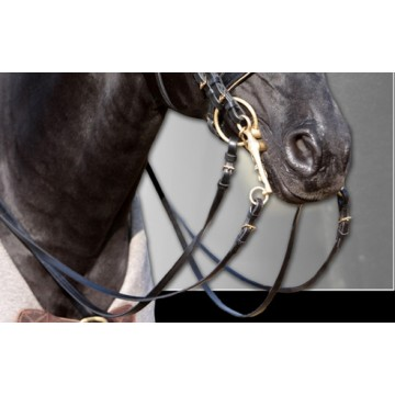 Wahlsten W-Profile leather reins for weymouth bridles
