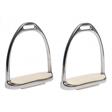 HORSE COMFORT, STIRRUPS WITH RUBBER PADS 12 CM