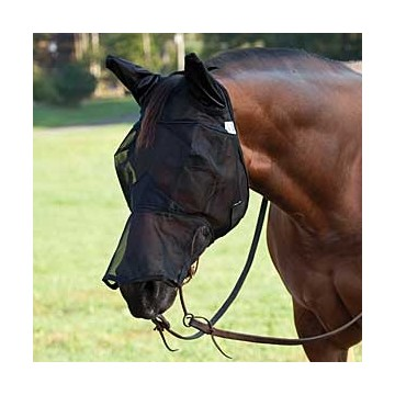 Horse comfort Flymask with nose