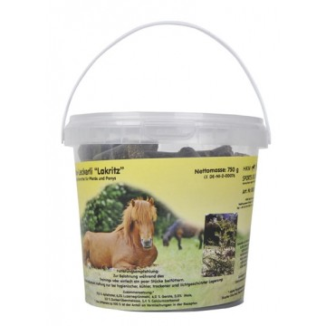 HKM Horse titbits Liquorice in small 750 g bucket