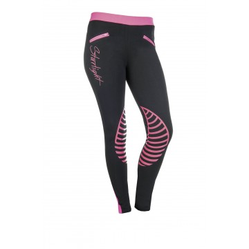 HKM Riding leggings Starlight silicone knee patch