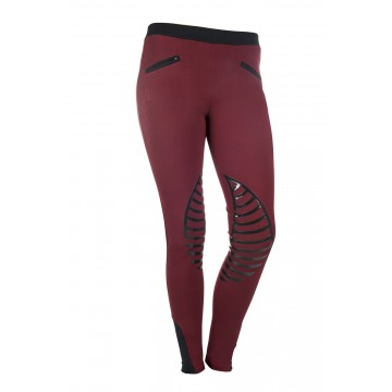 HKM Riding Leggings - dark red