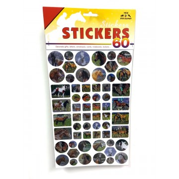 Glitter Horse Stickers 60 pcs